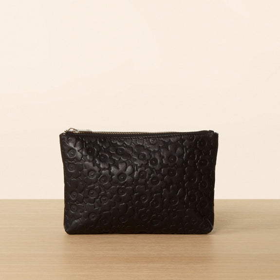 Valmo Leather Pouch - Black