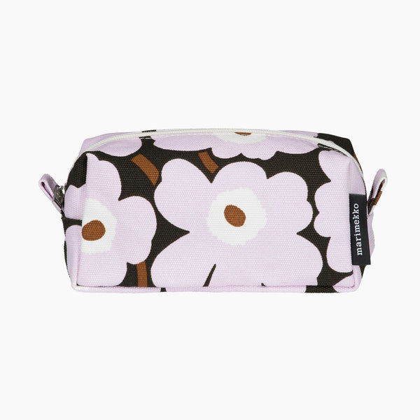 Tiise Unikko Cosmetic Bag DarkGreen/Pink/Brown