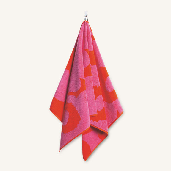 Unikko Hand Towel - Red/Pink