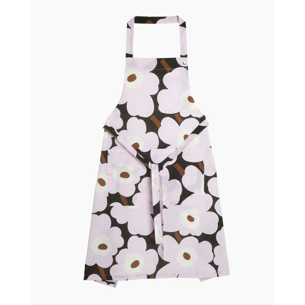 Pieni Unikko Apron DarkGreen/Pink/Brown