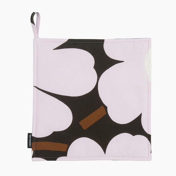 Pieni Unikko Pot Holder DarkGreen/Pink/Brown