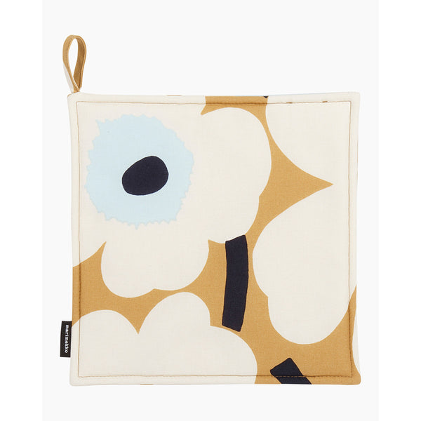 Pieni Unikko Pot Holder Beige/White/Blue