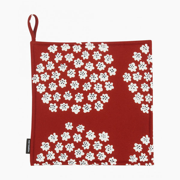 Puketti  Pot Holder - Red/White