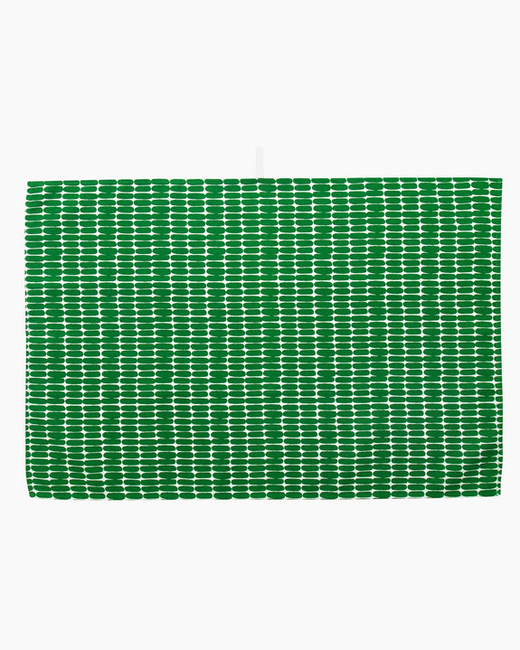 Alku Tea Towel White/Green