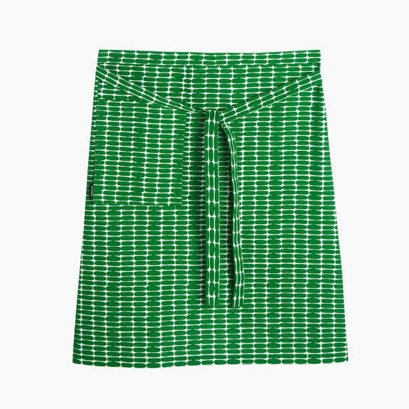 Alku Apron White/Green