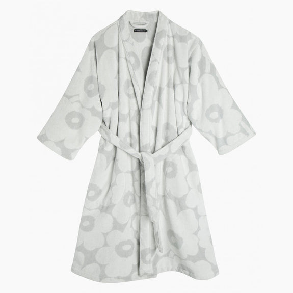 Unikko Bathrobe - White/Grey