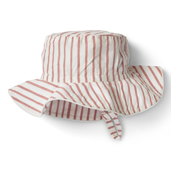 Stripes Away Bucket Hat - Dark Pink