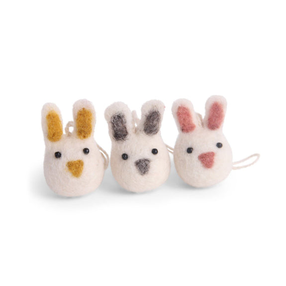Mini Felt Bunny - Set of 3