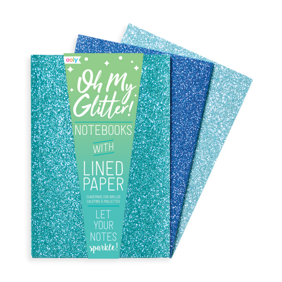 Oh My Glitter Notebooks - Blue