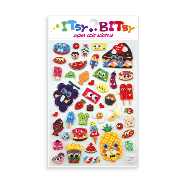 Itsy Bitsy Stickers - Googly Eyed Food