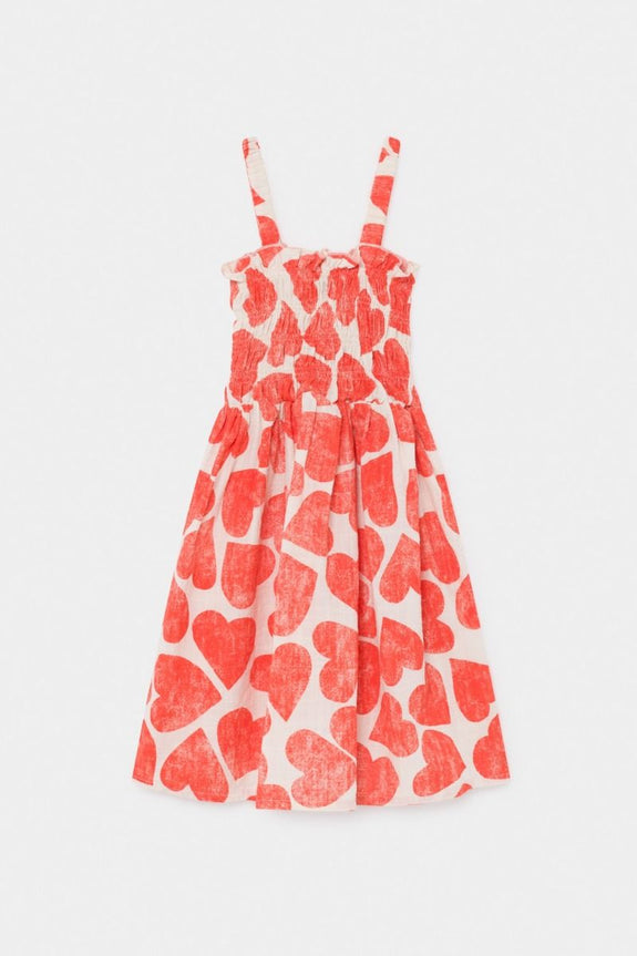 All Over Hearts Smoked Dress