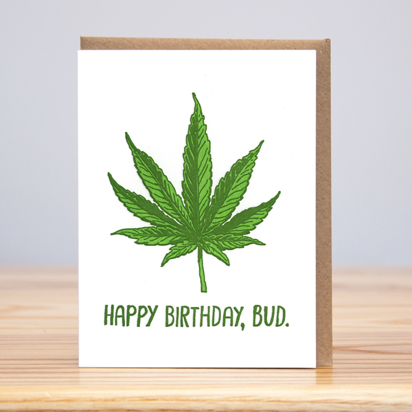 Happy Birthday Bud Card