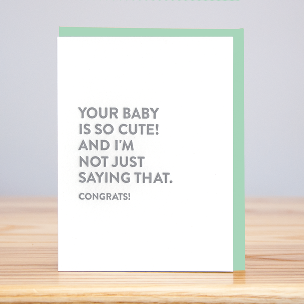Cute Baby Congrats Card