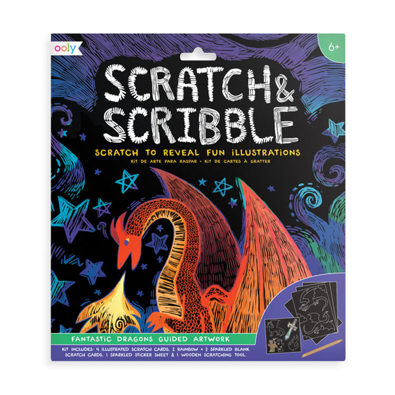 Scratch And Scribble Scratch Art Kit Dragons