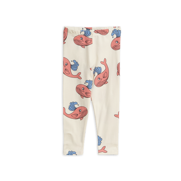 Whale AOP Leggings Pink