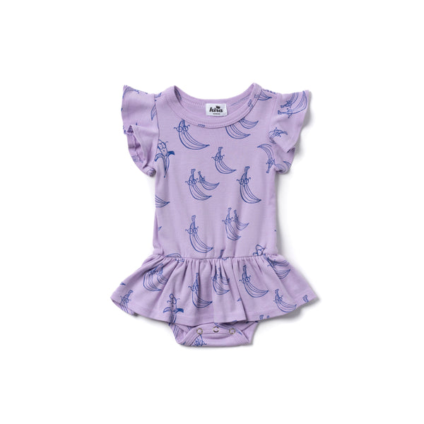 Kira Banana Dress Onesie Violet