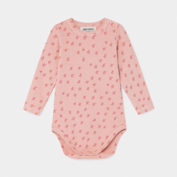 Long Sleeve Onesie All Over Stars