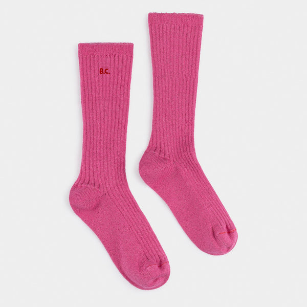 Pink Lurex Socks