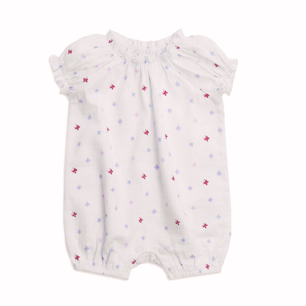 Gathered Romper - Butterfly