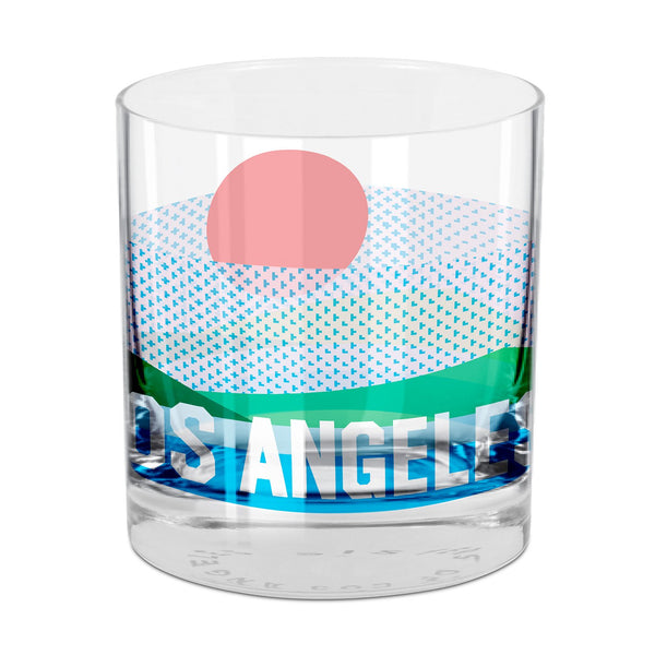 Los Angeles Rocks Glass Single