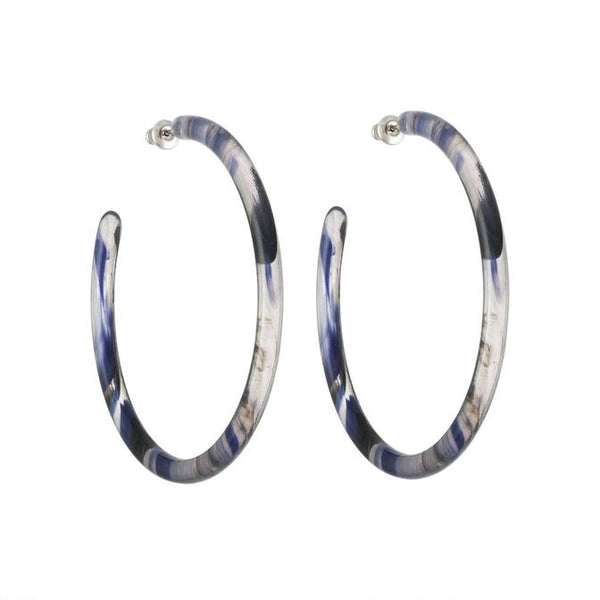 Large Hoops in Navy