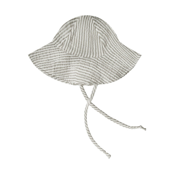 Floppy Sun Hat - Olive Stripe