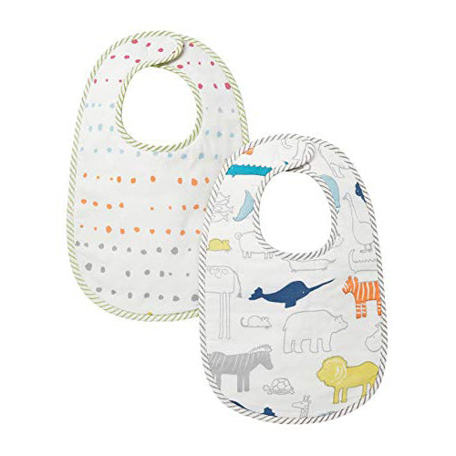 Bib Set of 2 - Noah's Ark & Dots