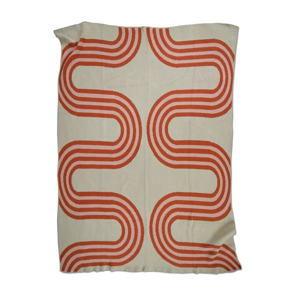 78th Street Blush Terracotta Throw