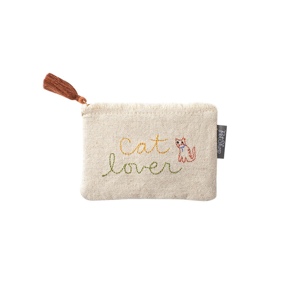 Cat Lover Canvas Coin Pouch