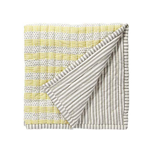 Quilted Nursery Blanket Grey/Sunshine