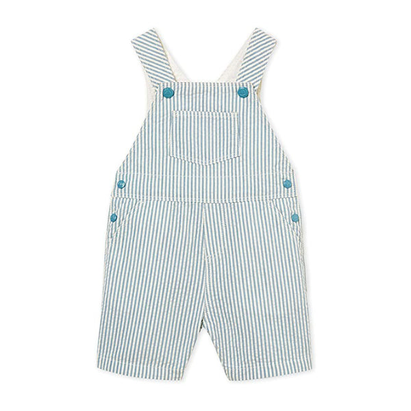 Seersucker Striped Overall