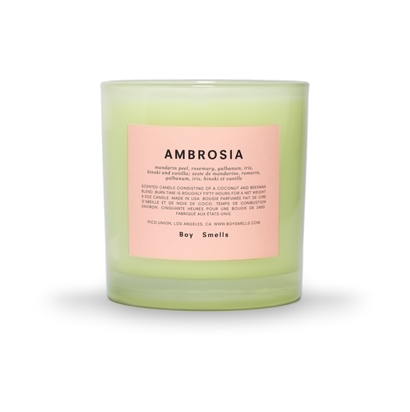 Boy Smells Candle Ambrosia