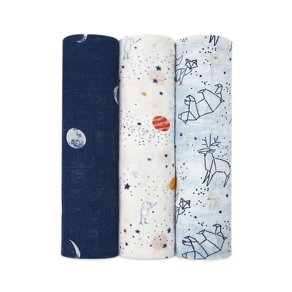 Silky Soft Swaddles Set of 3 - Stargaze
