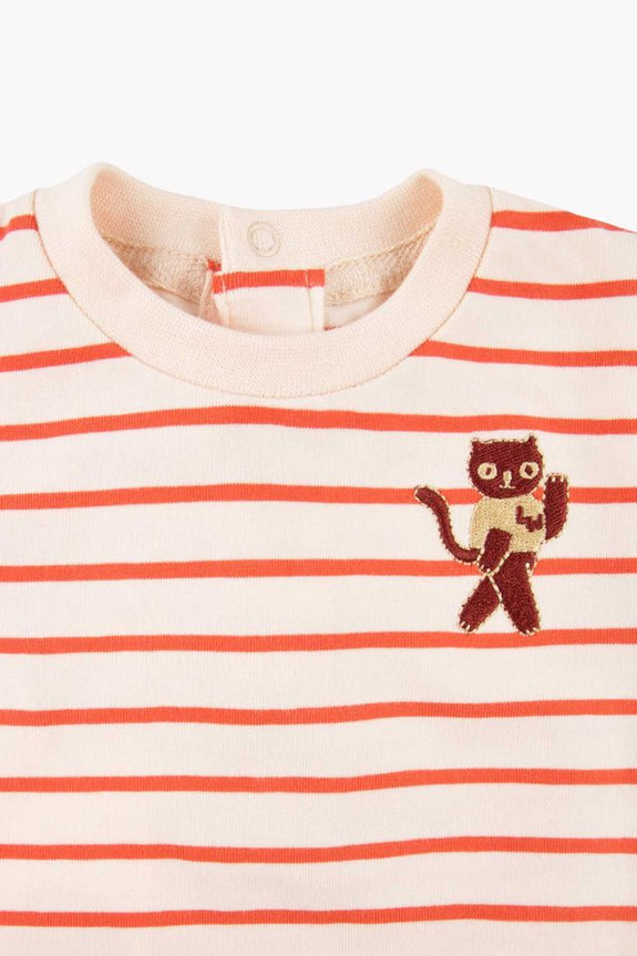 Stripes LS Body Cream/Red