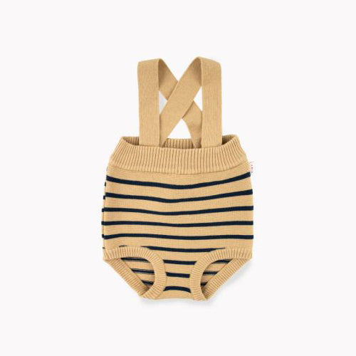 Stripes Baby Bloomer Sand/Navy