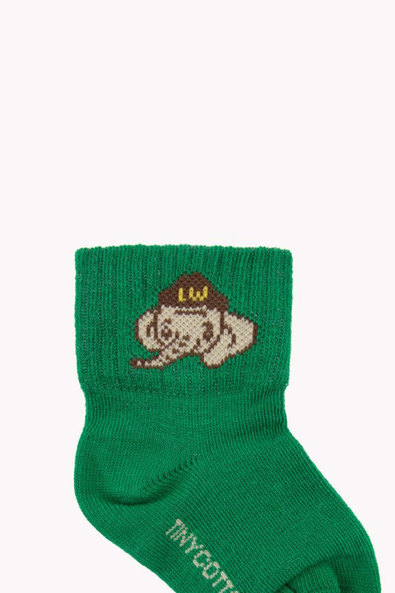 Luckyphant Medium-Length Socks Green/Sand
