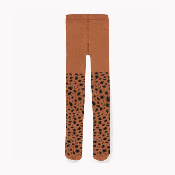 Animal Pattern Tights Brown/DrkBrown