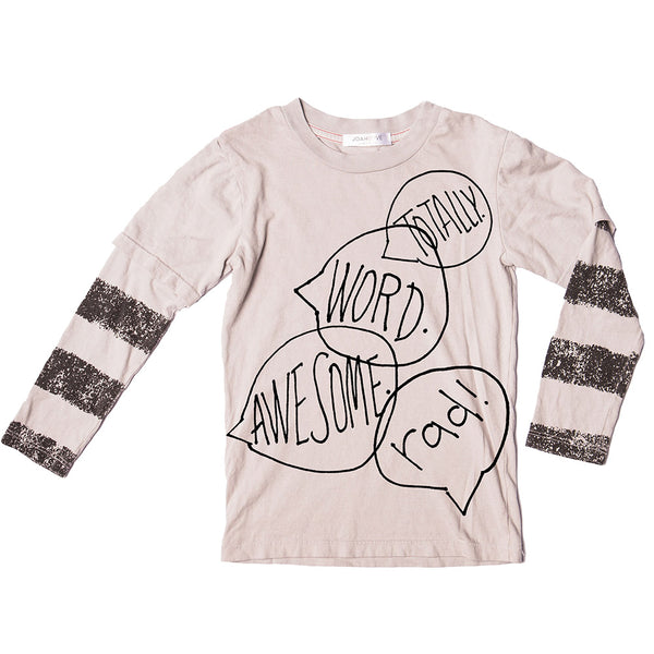 Word Bubble Print Top (Ash)