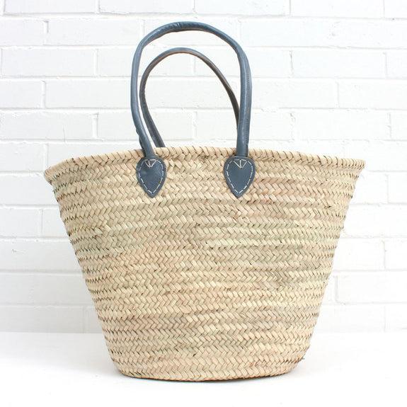 Bohemia Souk Shopper Basket Pale Grey