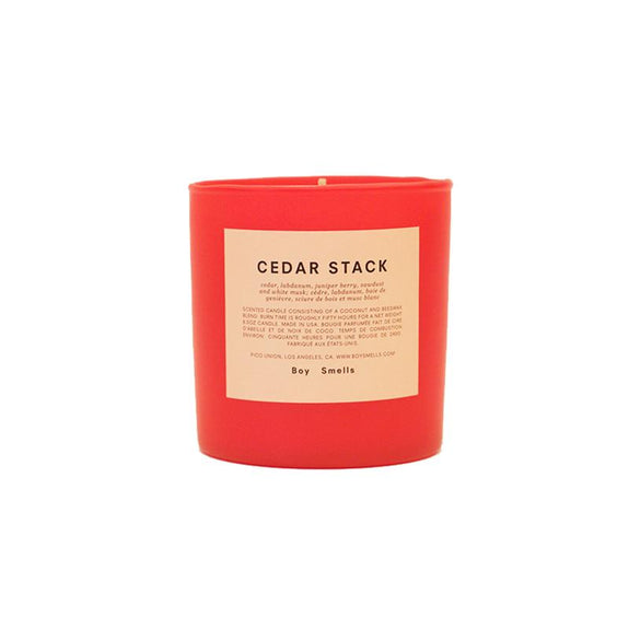Boy Smells Candle Cedar Stack (Red)