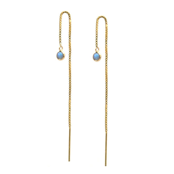 Dayna TE Blue Opal Earrings