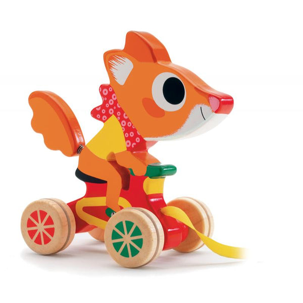 Scouic Fox Pull-Along Wooden Toy