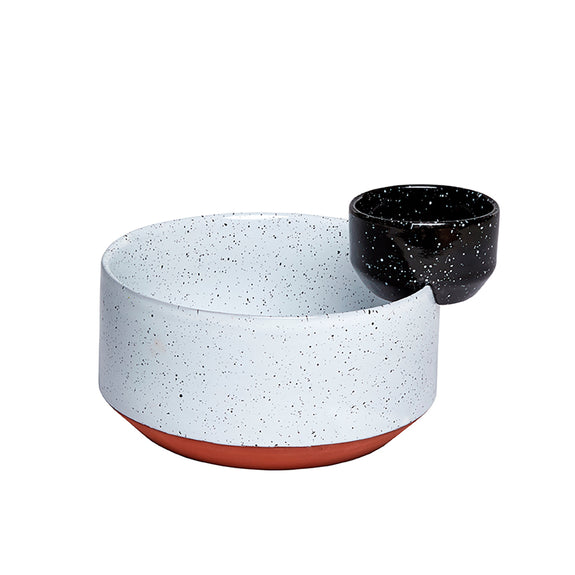 Eclipse Big Black and White Bowls