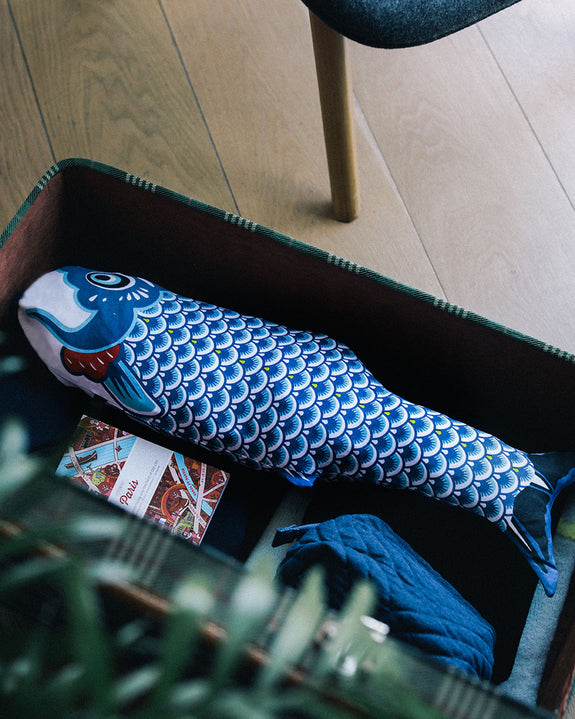 Travel Laundry Bag - Koinobori Blue