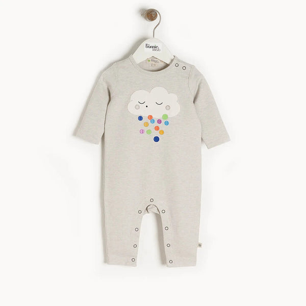 Elwood Applique Playsuit Raincloud