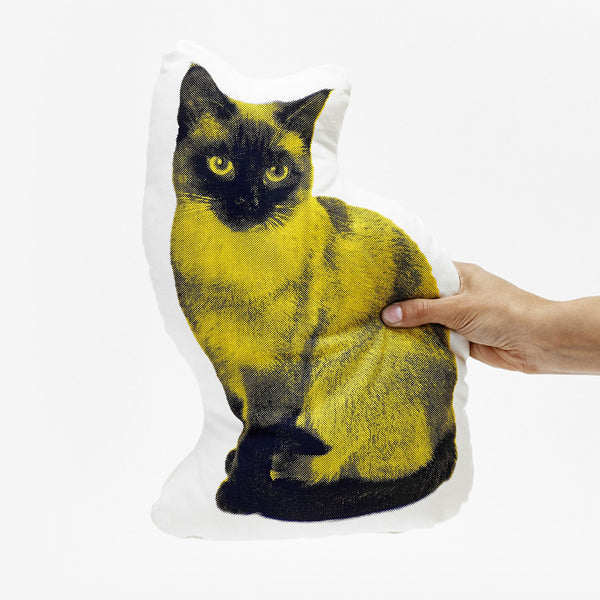 Fauna Pillow Siamese Cat