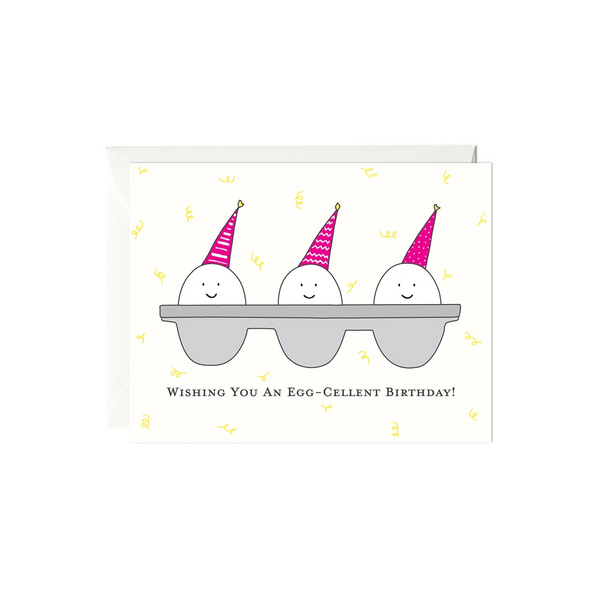 Eggcellent Birthday Card