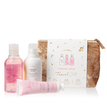 Kimono Rose Travel Set with Beauty Bag