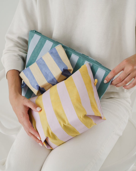 Go Pouch Set Pastel Stripes
