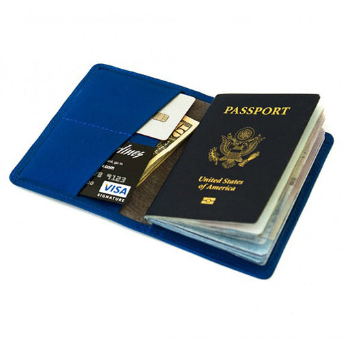 Harrison Passport Wallet - Cobalt